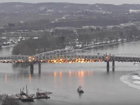 How a bridge gets demolished