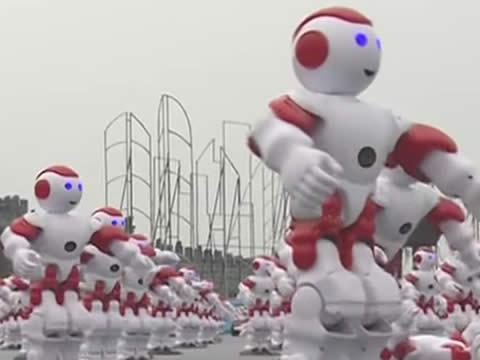 Dancing robots in China earn world record