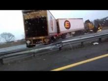 truck sliding on icy roads