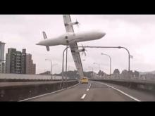 Dashcam Captures Plane Crash