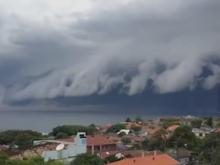 Huge cloud rolls across Sydney