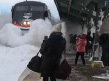 Amtrak Train Collides with Snow
