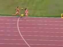 Runner celebrates too early