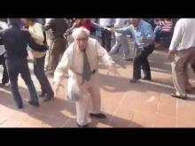 Old guy dancing without canes